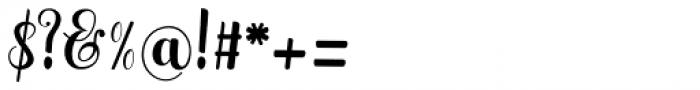 Hatachi Regular Font OTHER CHARS