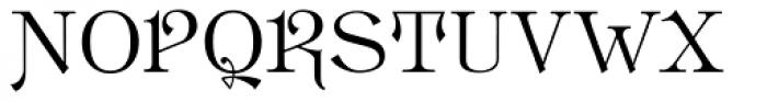 Hattan Antique Font UPPERCASE