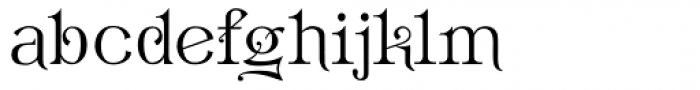 Hattan Antique Font LOWERCASE