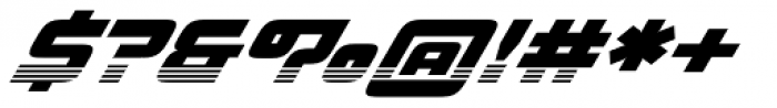 Haulage Commercial Striped Italic Font OTHER CHARS