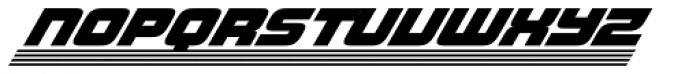 Haulage Commercial Striped Italic Font LOWERCASE