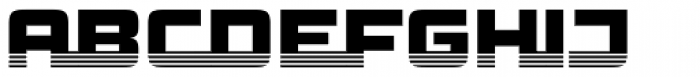 Haulage Commercial Striped Font UPPERCASE