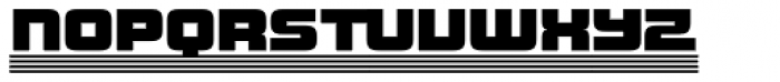 Haulage Commercial Striped Font LOWERCASE