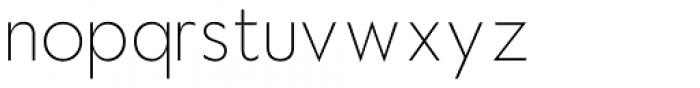 Hauslan Thin Font LOWERCASE