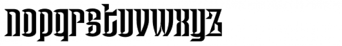 Haut Relief NF Font LOWERCASE