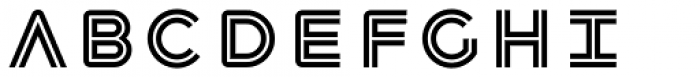 Havelock Complete Inline Font UPPERCASE