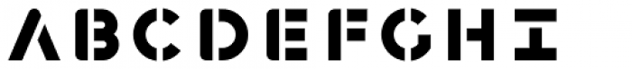 Havelock Complete Stencil Font UPPERCASE