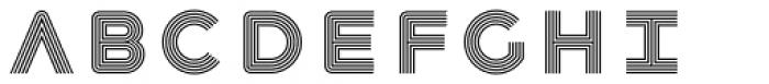 Havelock Multiline Font UPPERCASE