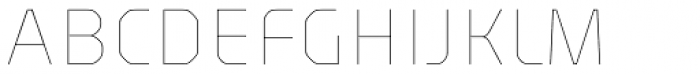 Haven Thin Font UPPERCASE
