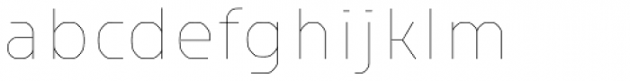 Haven Thin Font LOWERCASE