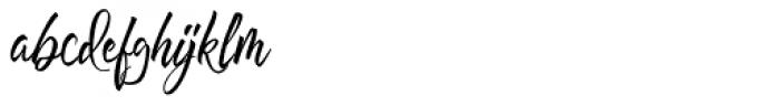 Hayne Script Clean Regular Font LOWERCASE