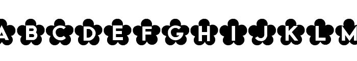 HB FontHANA Font UPPERCASE