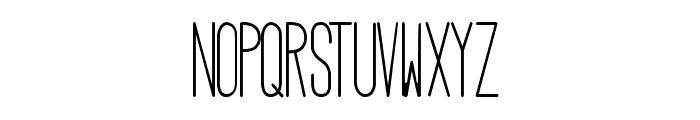 HBM Serenity Condensed Font UPPERCASE