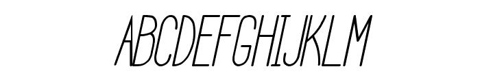 HBM Serenity Italic Font UPPERCASE