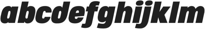 Heading Pro Double Black Italic otf (900) Font LOWERCASE