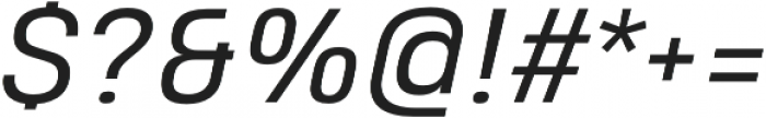 Heading Pro Double Book Italic otf (400) Font OTHER CHARS