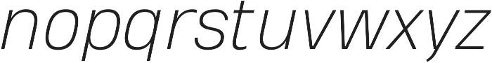 Heading Pro Double ExtraLight Italic otf (200) Font LOWERCASE