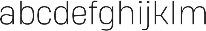 Heading Pro Double ExtraLight otf (200) Font LOWERCASE