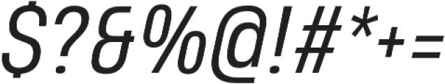 Heading Pro Medium Book Italic otf (400) Font OTHER CHARS