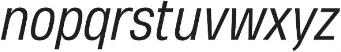 Heading Pro Medium Book Italic otf (400) Font LOWERCASE