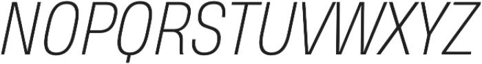 Heading Pro Medium ExtraLight Italic otf (200) Font UPPERCASE