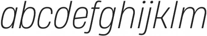 Heading Pro Medium ExtraLight Italic otf (200) Font LOWERCASE