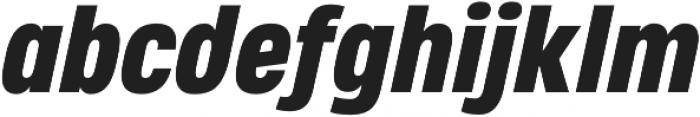 Heading Pro Medium Heavy Italic otf (500) Font LOWERCASE