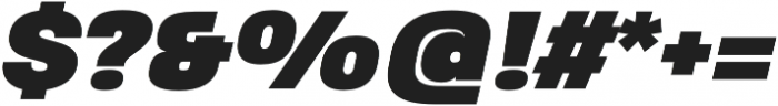 Heading Pro Treble Black Italic otf (900) Font OTHER CHARS