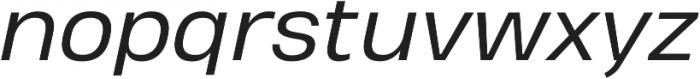 Heading Pro Treble Book Italic otf (400) Font LOWERCASE