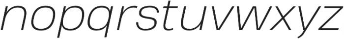 Heading Pro Treble ExtraLight Italic otf (200) Font LOWERCASE