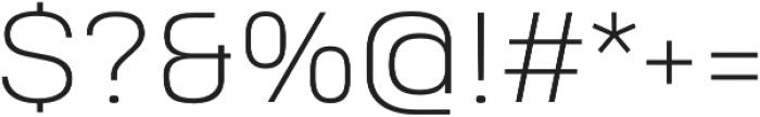 Heading Pro Treble ExtraLight otf (200) Font OTHER CHARS
