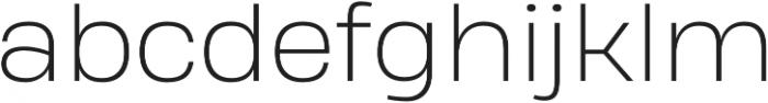 Heading Pro Treble ExtraLight otf (200) Font LOWERCASE