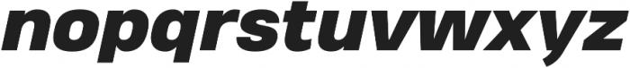 Heading Pro Treble Heavy Italic otf (800) Font LOWERCASE