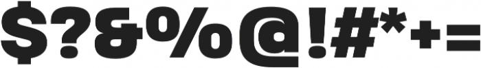 Heading Pro Treble Heavy otf (800) Font OTHER CHARS