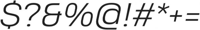 Heading Pro Treble Light Italic otf (300) Font OTHER CHARS