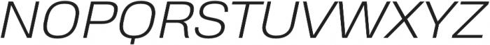Heading Pro Treble Light Italic otf (300) Font UPPERCASE
