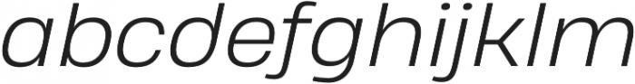 Heading Pro Treble Light Italic otf (300) Font LOWERCASE