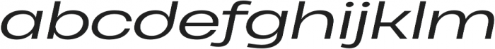 Heading Pro Ultra Wide Book Italic otf (400) Font LOWERCASE