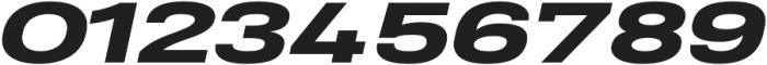 Heading Pro Ultra Wide ExtraBold Italic otf (700) Font OTHER CHARS