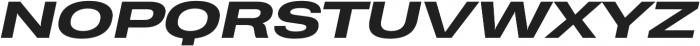 Heading Pro Ultra Wide ExtraBold Italic otf (700) Font UPPERCASE