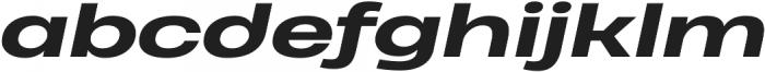 Heading Pro Ultra Wide ExtraBold Italic otf (700) Font LOWERCASE