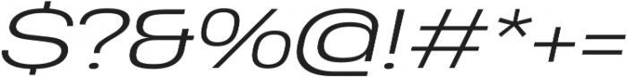 Heading Pro Ultra Wide Light Italic otf (300) Font OTHER CHARS