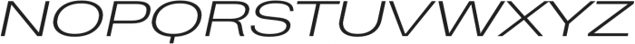 Heading Pro Ultra Wide Light Italic otf (300) Font UPPERCASE