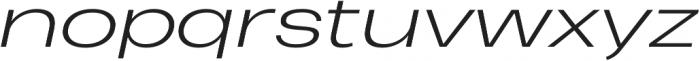 Heading Pro Ultra Wide Light Italic otf (300) Font LOWERCASE