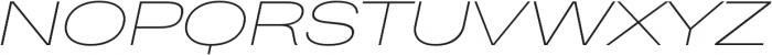 Heading Pro Ultra Wide Thin Italic otf (100) Font UPPERCASE