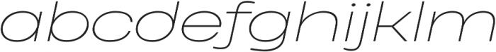Heading Pro Ultra Wide Thin Italic otf (100) Font LOWERCASE