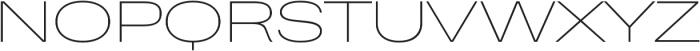 Heading Pro Ultra Wide Thin otf (100) Font UPPERCASE