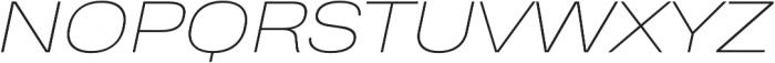 Heading Pro Wide Thin Italic otf (100) Font UPPERCASE