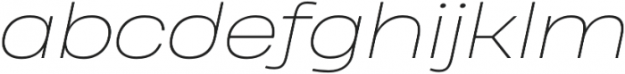 Heading Pro Wide Thin Italic otf (100) Font LOWERCASE