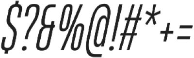 HeadingProUltracomp Light Italic otf (300) Font OTHER CHARS